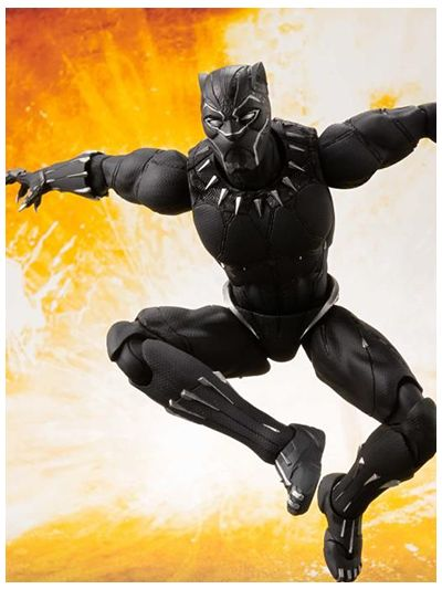 Avengers Infinity War Black Panther & Tamashii Effect Rock - SHF29128