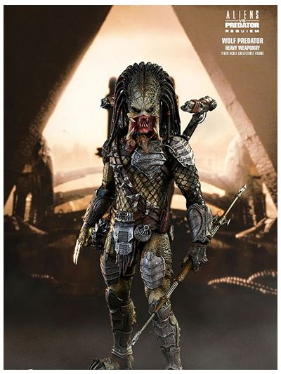 Alien vs. Predator: Requiem 1/6th scale Wolf Predator (Heavy Weaponry) Collectible Figure - MMS443