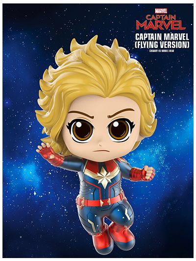 Captain Marvel (Flying Version) Cosbaby (S) Bobble-Head - COSB542