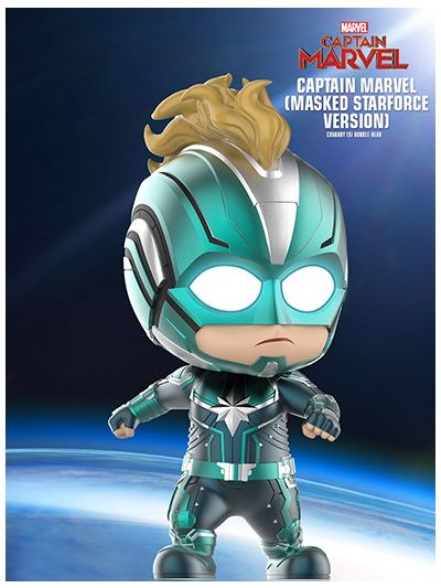 Captain Marvel (Masked Starforce Version) Cosbaby (S) Bobble-Head - COSB544