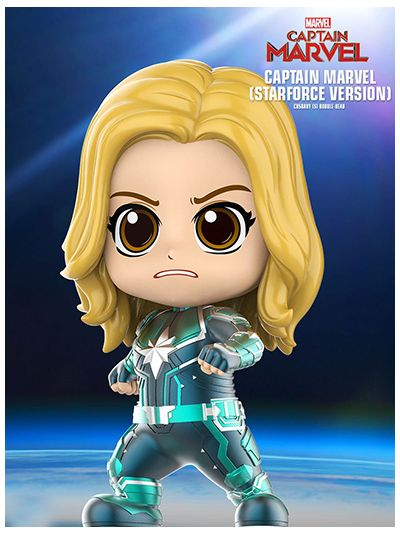 Captain Marvel (Starforce Version) Cosbaby (S) Bobble-Head - COSB543