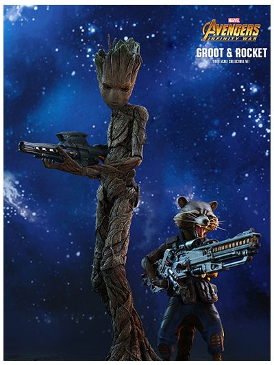 AVENGERS: INFINITY WAR GROOT & ROCKET 1/6TH SCALE COLLECTIBLE SET - MMS476