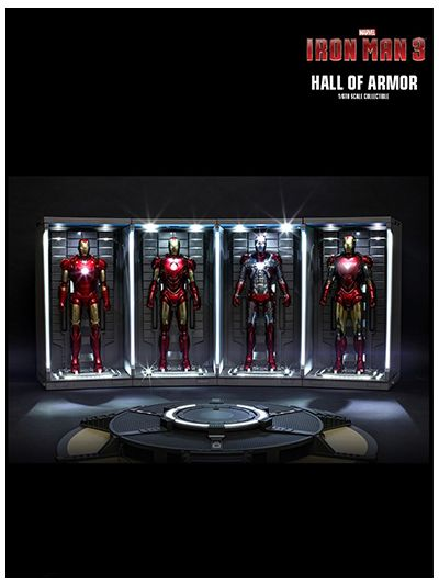 IRON MAN 3 HALL OF ARMOR 1/6TH SCALE COLLECTIBLE ( SET OF 4 ) - DS001B