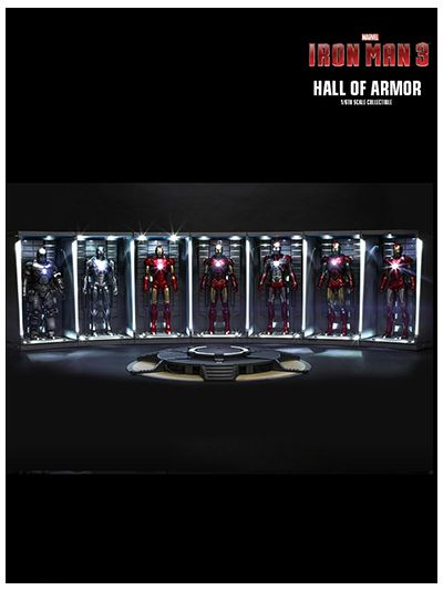 IRON MAN 2 HALL OF ARMOR 1/6TH SCALE COLLECTIBLE ( SET OF 7 ) - DS001C
