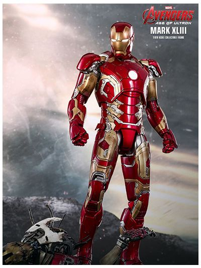 AVENGERS: AGE OF ULTRON IRON MAN MARK XLIII 1/6TH SCALE COLLECTIBLE FIGURE (2018) – MMS278D09R
