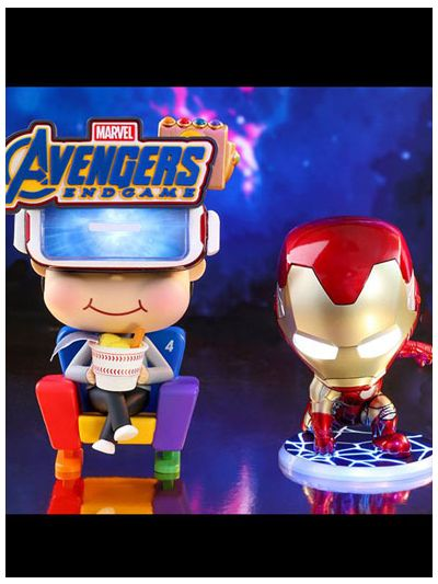 Movbi & Iron Man Mark LXXXV Cosbaby (S) Bobble-Head Collectible Set - COSB553