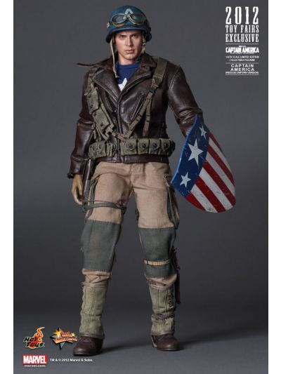 CAPTAIN AMERICA: THE FIRST AVENGER CAPTAIN AMERICA (RESCUE UNIFORM VERSION) (2012 TOY FAIRS EXCLUSIVE) - MMS180
