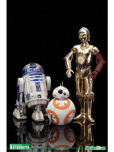 KOTOBUKIYA: STAR WARS R2-D2 && C-3PO with BB-8 ARTFX  STATUE