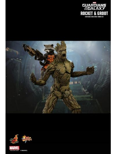 HOT TOYS GUARDIANS OF THE GALAXY: ROCKET AND GROOT 1/6TH SCALE (BIB) - MMS254