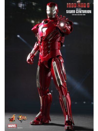 HOT TOYS IRON MAN 3: SILVER CENTURION (MARK XXXIII) SPECIAL EDITION 1/6TH SCALE (MARK 33) (BIB) - MMS213