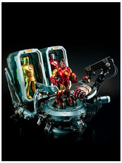 Marvel Comic -  Iron Man Hall of Armor Set B (full set with containers) Limited Edition - TL-007