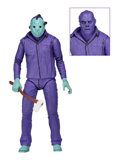 Friday the 13th – 7″ Scale Action Figure – Classic Video Game Appearance Jason with Theme Music Packaging - 39715