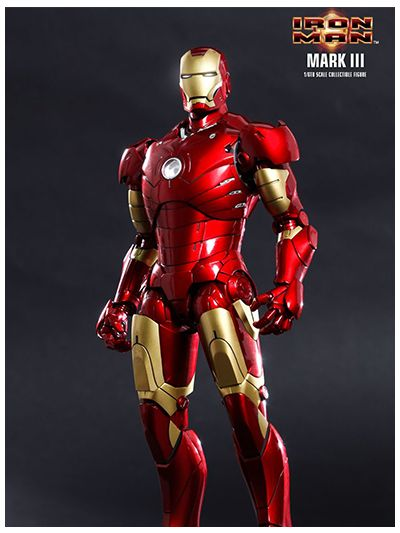 HOT TOYS IRON MAN : IRON MAN MARK III 3 1/6TH SCALE COLLECTIBLE FIGURE (DIECAST) - MMS256D07