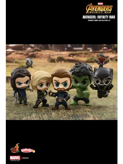 Cosbaby Avengers: Infinity War Cosbaby (S) Bobble-Head Collectible Set [* Small Falcon and Small War Machine are exclusively featured in this collectible set] - COSB450