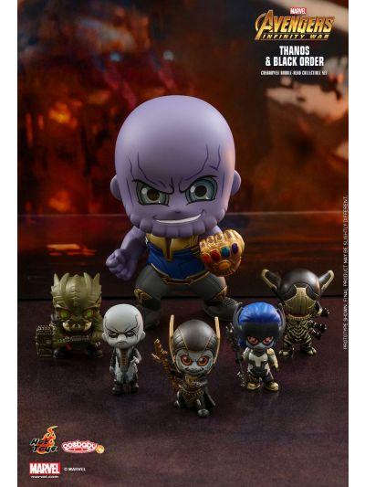 Cosbaby Thanos and Black Order Cosbaby (S) Bobble-Head Collectible Set - COSB451