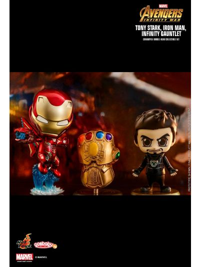Cosbaby Tony Stark, Iron Man, Infinity Gauntlet Cosbaby (S) Bobble-Head Collectible Set - COSB464