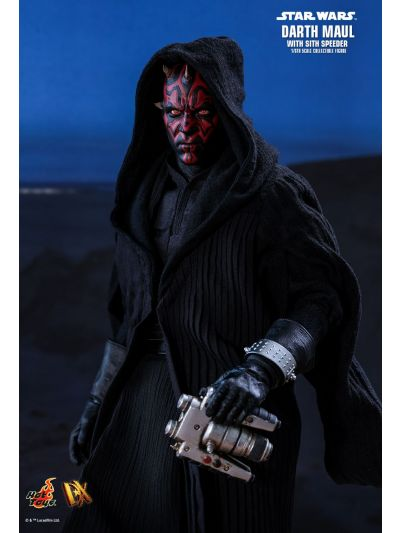 Hot Toys STAR WARS EPISODE I: THE PHANTOM MENACE DARTH MAUL WITH SITH SPEEDER 1/6TH SCALE COLLECTIBLE FIGURE - DX17