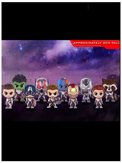 Avengers (Team Suit) Cosbaby (XS) Bobble-Head Collectible Set - COSB552