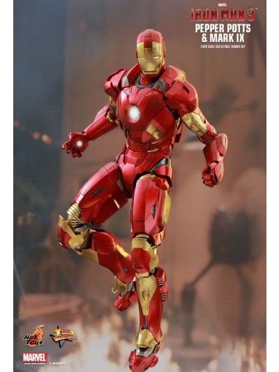 IRON MAN 3 PEPPER POTTS & MARK IX 1/6TH SCALE COLLECTIBLE FIGURES SET - MMS311