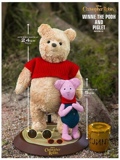 CHRISTOPHER ROBIN WINNIE THE POOH AND PIGLET COLLECTIBLE SET - MMS503