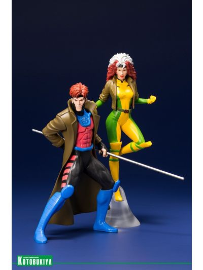 Kotobukiya X-MEN '92 GAMBIT and ROGUE TWO PACK ARTFX  STATUE - MK276
