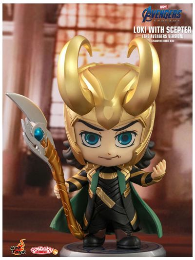 Loki with Scepter (The Avengers Version) Cosbaby (S) Bobble-Head - COSB578
